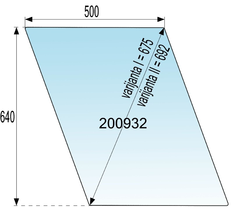 STEKLO KABINE VRAT ZGORNJA ŠTORE 402 - 404 - 502 - 504 AVTORADGONA diagonala 69