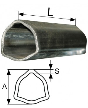 CEV POSAMIČNA T1,T12 L=3000 mm TRIKOTNA   AxS=36x3,2