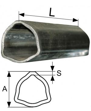 CEV POSAMIČNA T7,T8 ,L=3000mm TRIKOTNA   AxS= 54x5