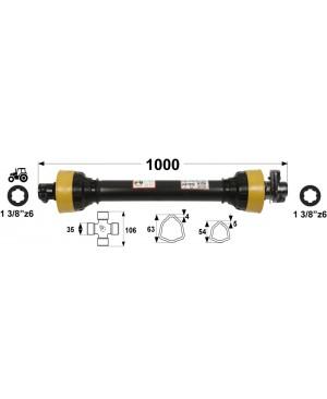 KARDAN T7  L=1000 mm S SKLOPKO STRIŽNO 3500 Nm
