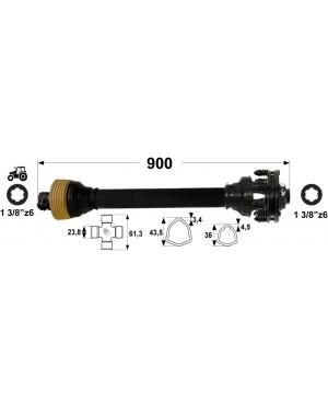 KARDAN T2  L=900 mm S SKLOPKO LAMELNO DVE LAMELI 400 Nm