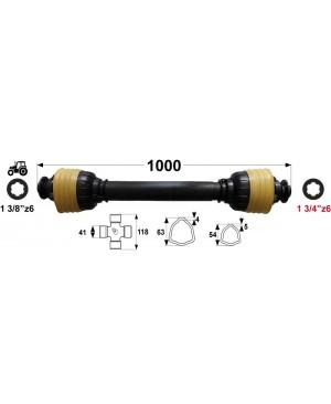 KARDAN T8  L=1000 mm DIREKTNI 13/4 z=6 na strani stroja