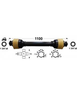 KARDAN X8 L= 1100 mm DIREKTNI