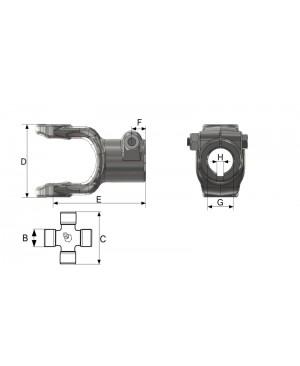 VILICA T5 ZUNANJA S PRITRDILNIM VIJAKOM IN PRIKLJUČKOM G=35mm
