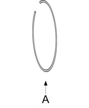 VZMETNI OBROČ T7,  A= Ø 235mm - Ø 5mm