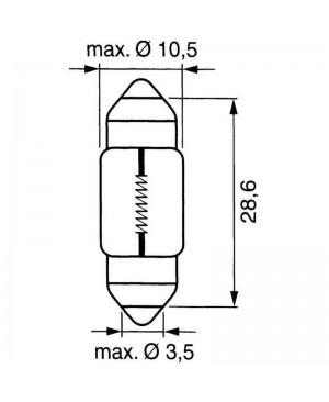 ŽARNICA   12V 10W SV8