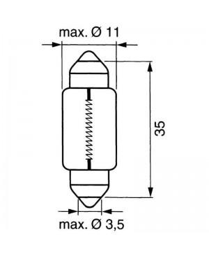 Žarnica  C5W 12V 5W SV8