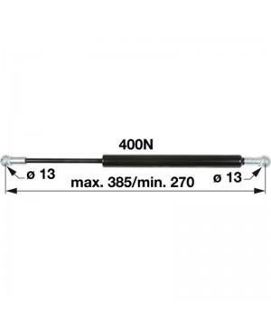 AMORTIZER KABINE VRAT L=385 F=400N SAME Iron 100, Iron 110, Iron 115, Iron 125 DEUTZ - HÜRLIMANN - LAMBORGHINI