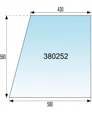 STEKLO KABINE VRAT ZGORAJ v gumi IMT 540 - 542 - 560 - 565 - 577 - 587 DE LUXE