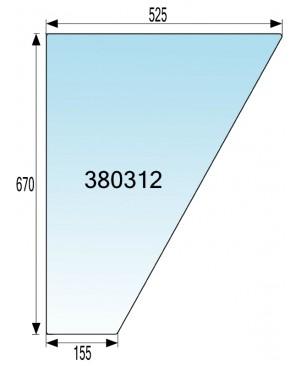 STEKLO KABINE VRAT SPODAJ v gumi IMT 540 - 542 - 560 - 565 - 577 - 587 DE LUXE
