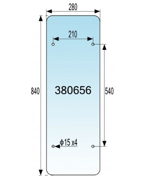 STEKLO KABINE ZADNJE SPODNJE (orig kab) IMT 540 DE LUX - 560